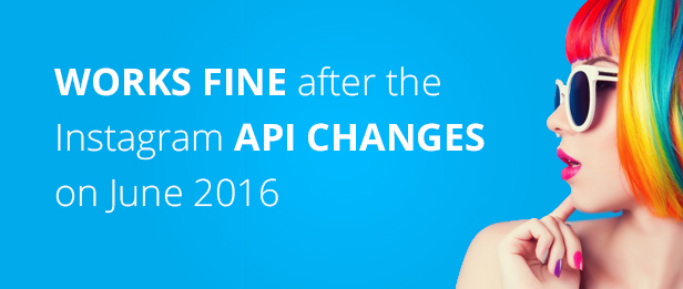 Works fine after the instagram API changes on June 2016